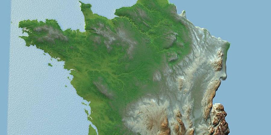 Carte de France en 3D