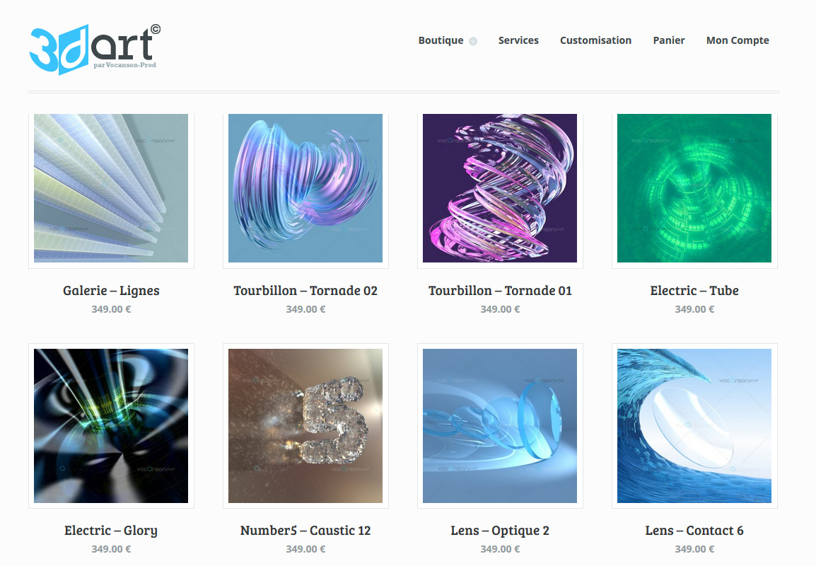 Site web 3DArt